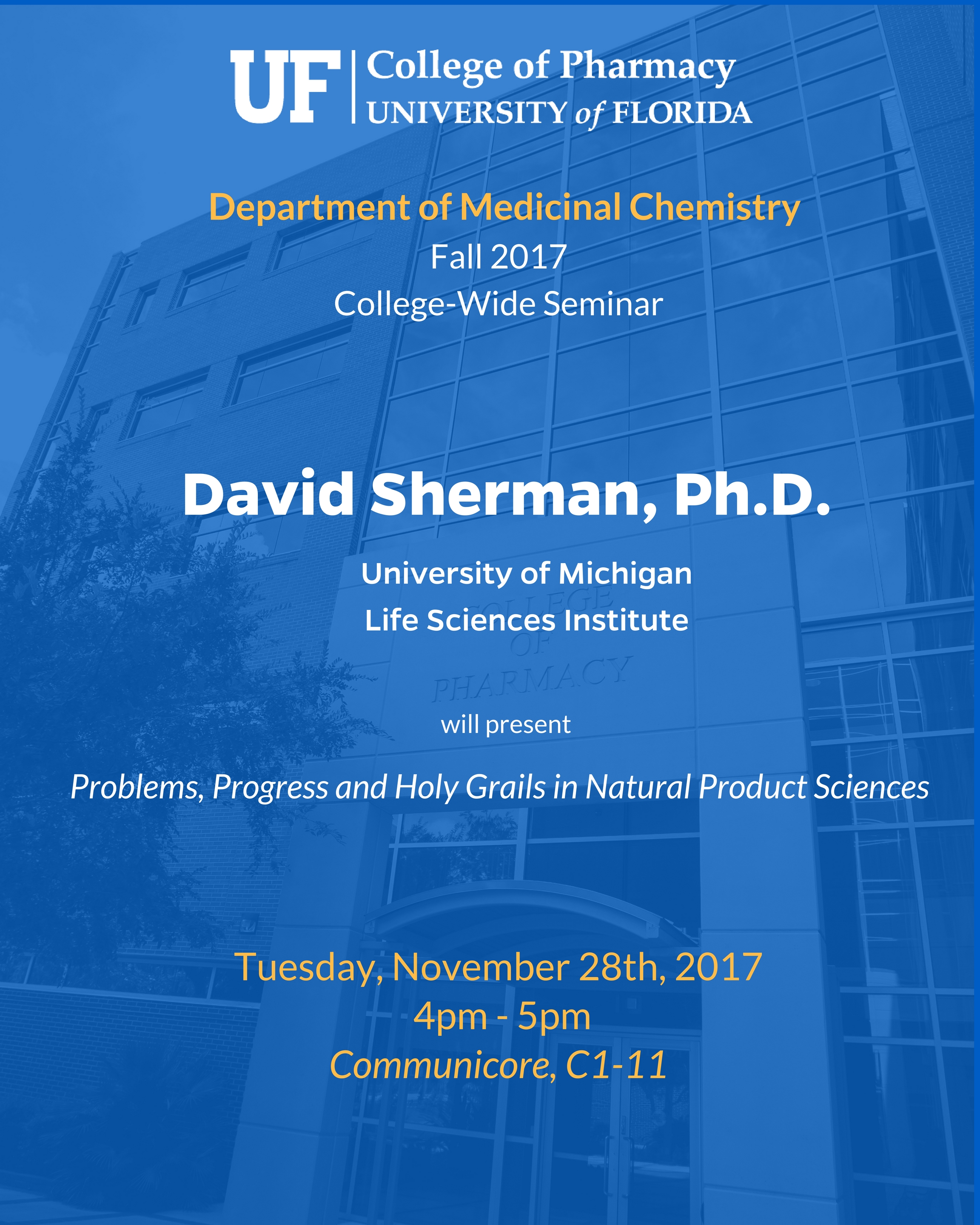 Seminar Announcement, David Sherman