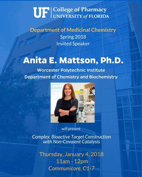 Seminar Announcement, Anita Mattson
