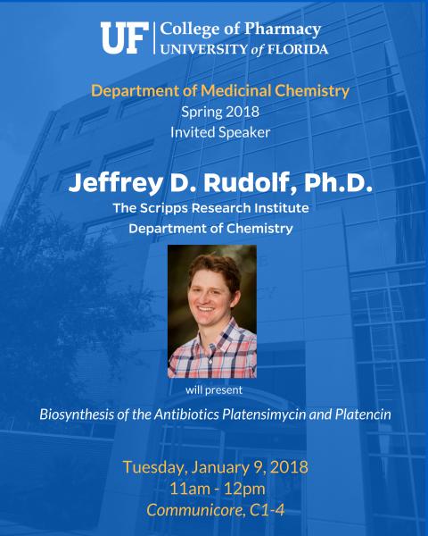 Seminar Announcment, Jeffrey Rudolf, Ph.D.