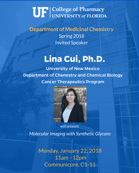 Seminar Announcement, Lina Cui, Ph.D.