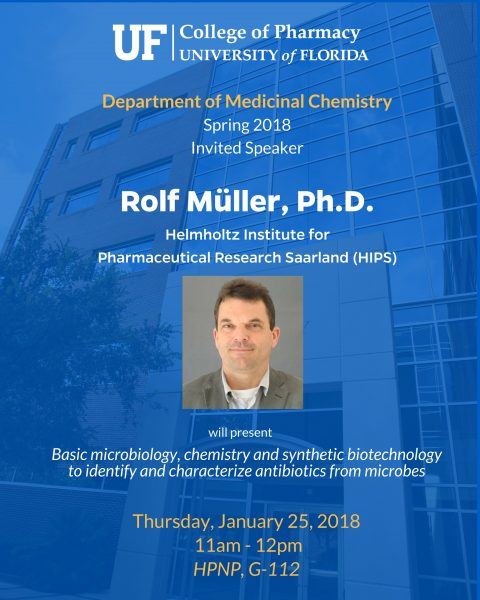 Seminar Announcement, Rolf Muller