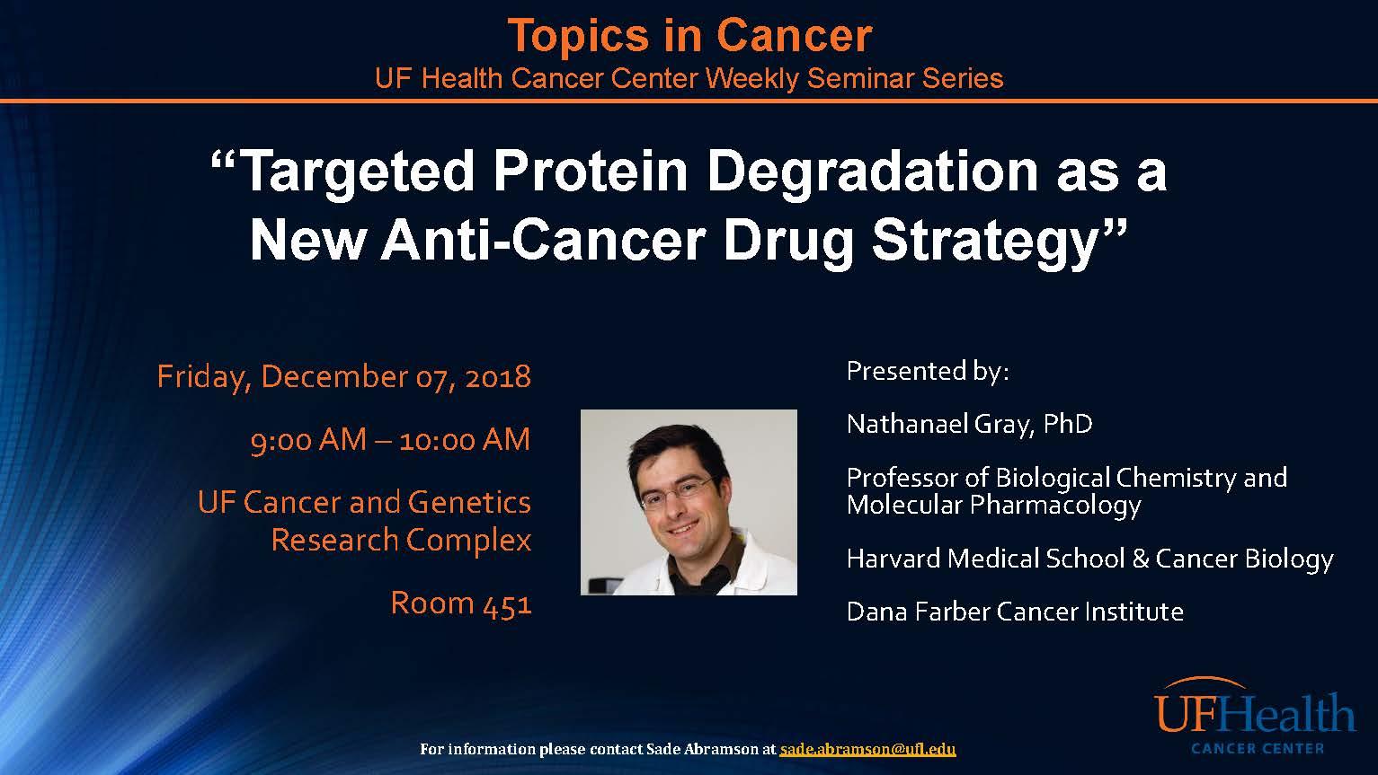 Guest Lecturer: Nathanael Gray, Ph.D.