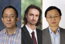 Headshots of Drs. Chris Xing, Hendrick Luesch and Guangrong Zheng
