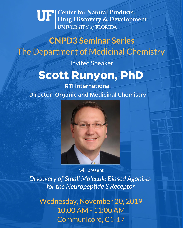 Information about Scott Runyon's seminar