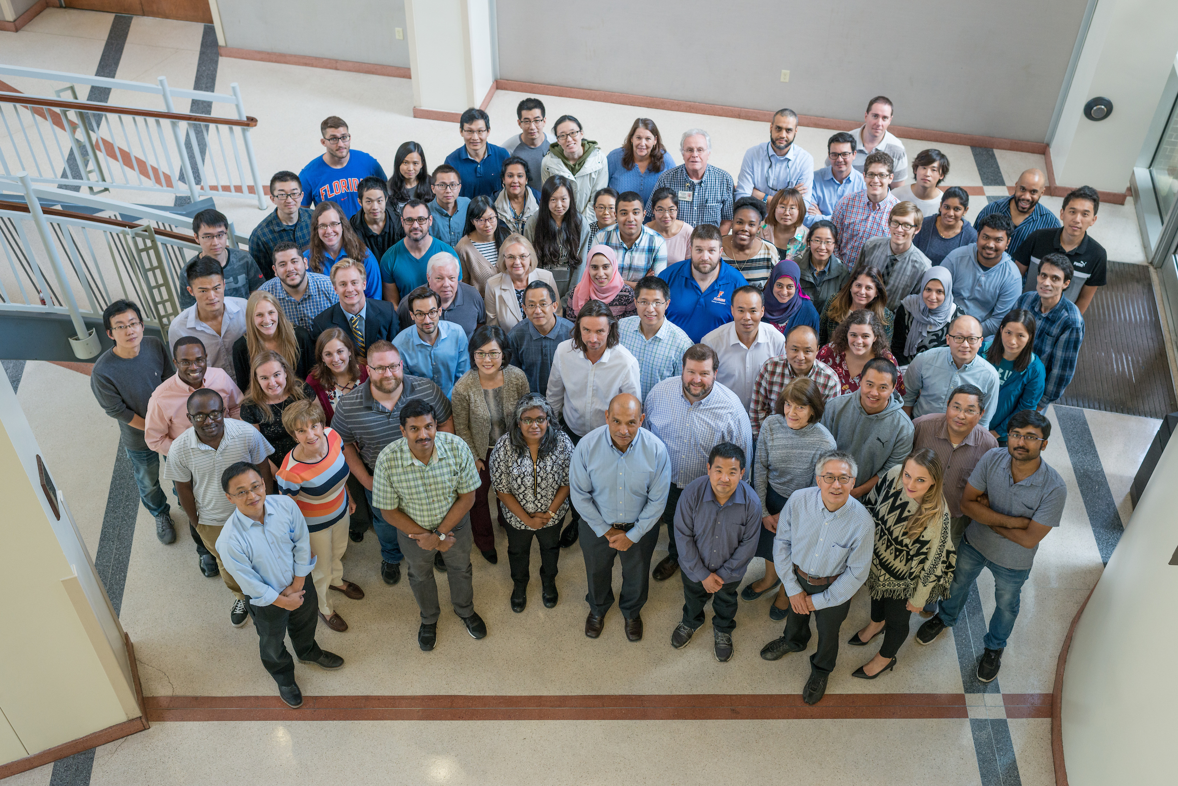 Group photo of all medicinal chemistry faculty and students