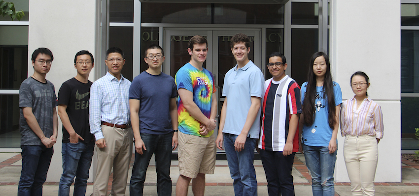 Group photo of Ding's lab members
