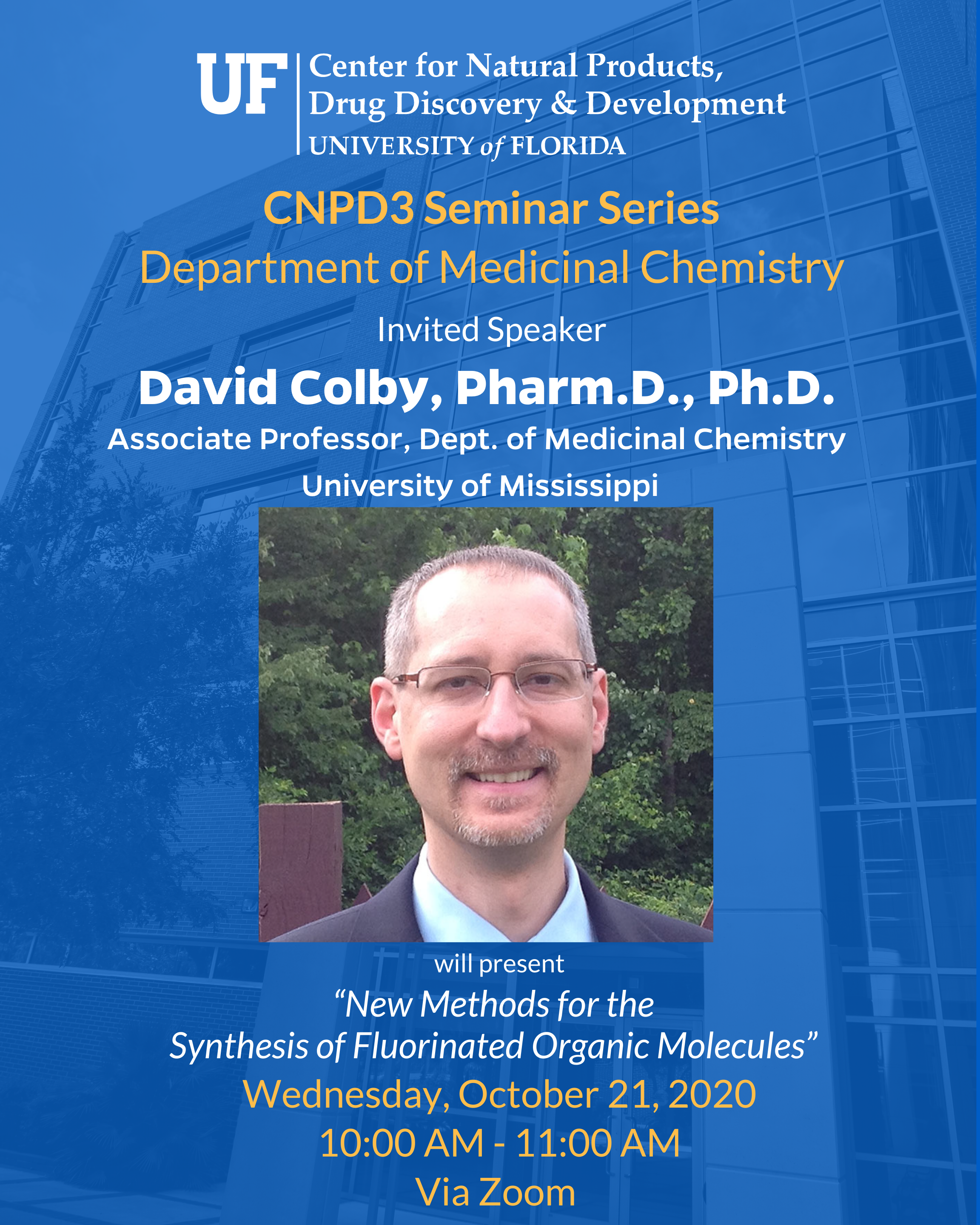 CNPD3 Seminar Series Fall 2020 Lecturer Dr.