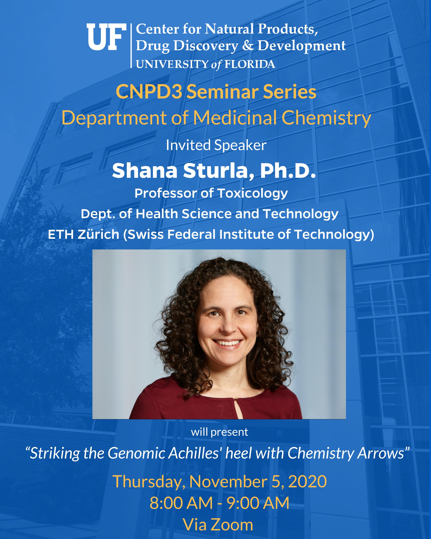 CNPD3 Seminar Series Fall 2020 Lecturer Shana Sturla