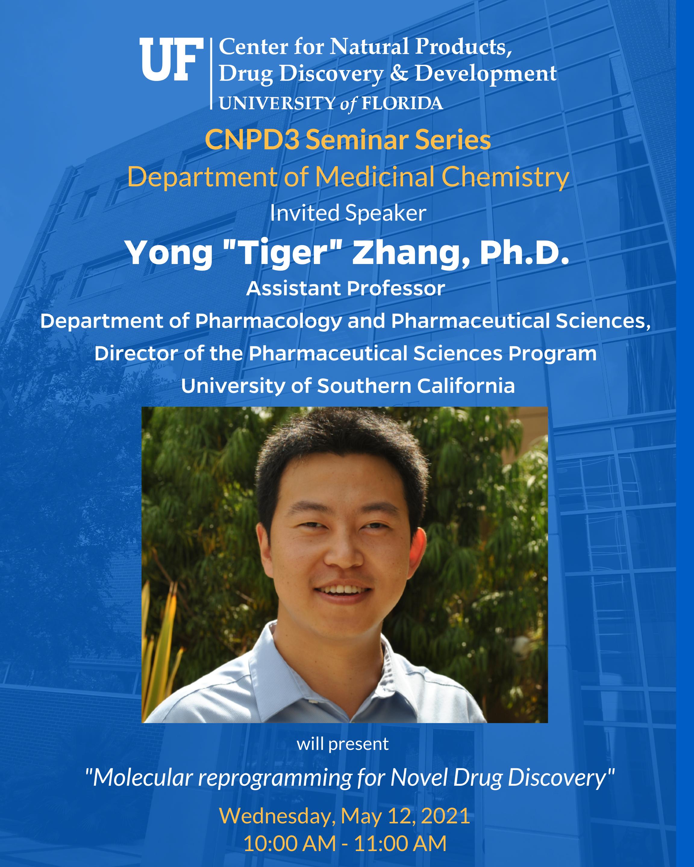 CNPD3 Seminar Series Spring 2021 Lecturer Yong Zhang